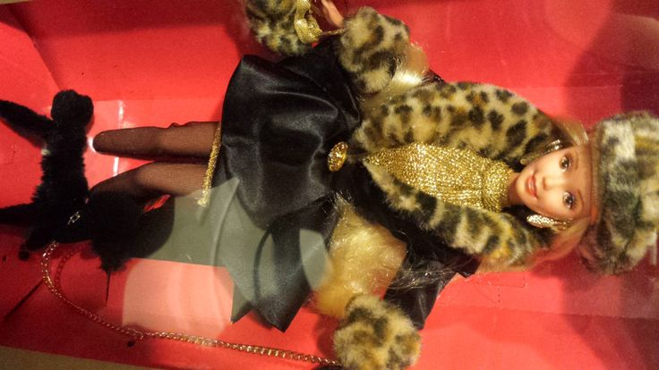 NRFB 1995 Spiegel SHOPPING CHIC Barbie Doll 14009 ~ Limited Edition ~ Poodle Leopard Print by KatsVintageTreasures on Etsy