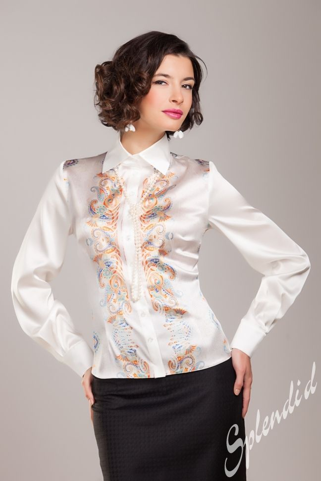 381 Best Images About White Cream Satin Blouse On