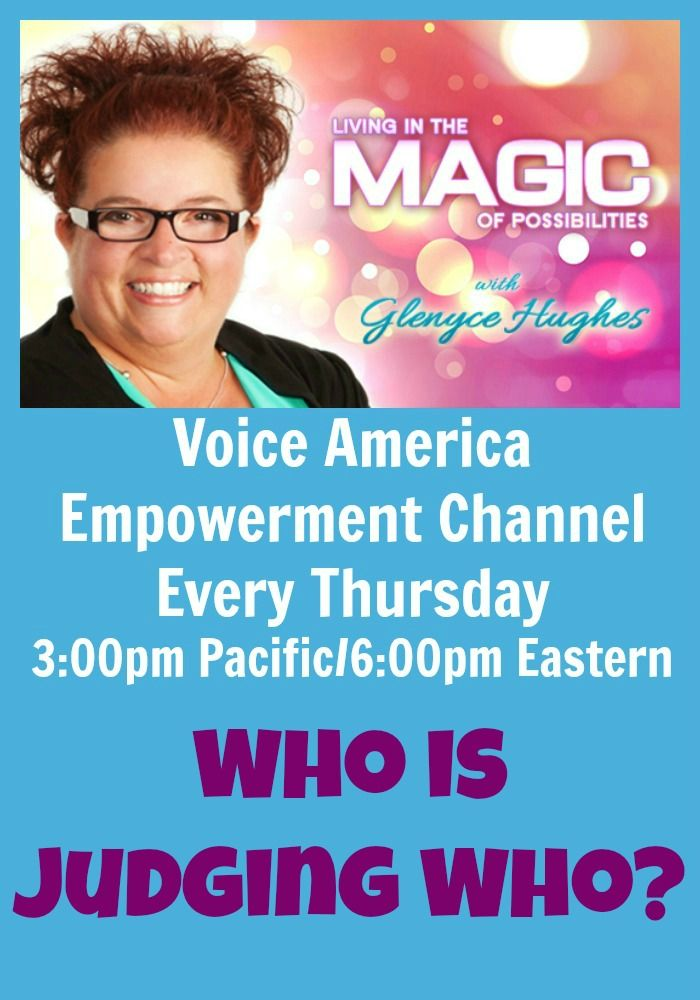 Have you ever thought a harsh judgement of someone you are just passing on the street? Have you ever blurted out something unkind to someone unexpectedly? Join Glenyce as she shares how this is truly created and tools and processes to change it.  Live show on Thursday, October 24 at 4:00pm MDT Listen to the replay or download it once its over.
