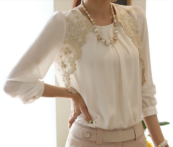 Camisa Branca com Renda (cod. 555)