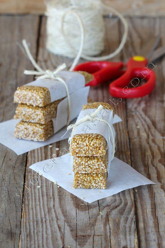 Barras de sementes de sésamo torrado/Toasted sesame seeds bars - Violeta Pasat