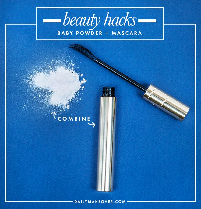 10 beauty hacks. #9: put mascara tube in hot water for 5 minutes when your mascara starts to gets clumpy!