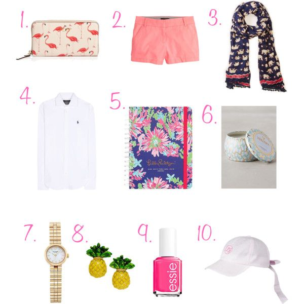 Current Favorites by scnrousch on Polyvore featuring polyvore fashion style Polo Ralph Lauren J.Crew Kate Spade LOFT Essie Lilly Pulitzer Voluspa