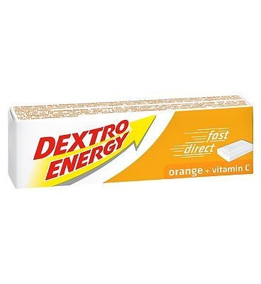 Dextro Energy Orange   Vitamin C 2 x 47g 10007931 4 Advantage card points. Dextro Energy Tablets provide a fast acting source of energy and are ideal for work, school and sport.< FREE Delivery on orders over 45 GBP. http://www.MightGet.com/february-2017-1