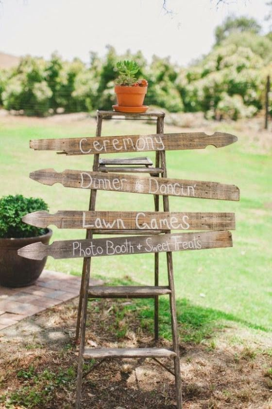 Wedding detail - Blog wedding with original ideas for wedding: 6 ideas to use wooden stairs to decorate your wedding
