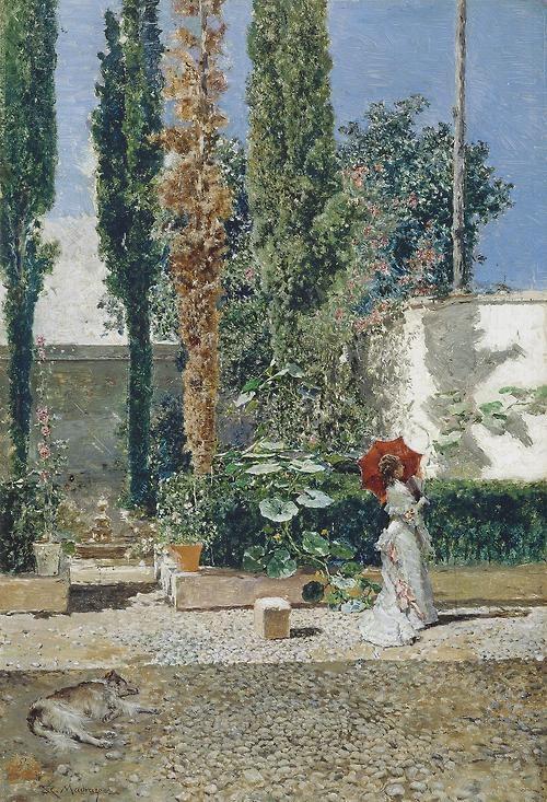 Marià Fortuny - Jardín de la casa de Fortuny (1872-77)