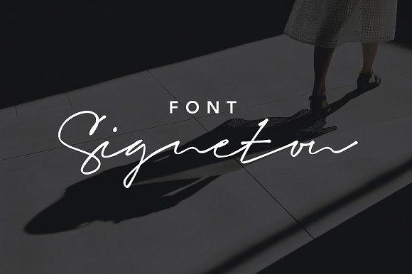 Signeton Font by GoaShape on @creativemarket