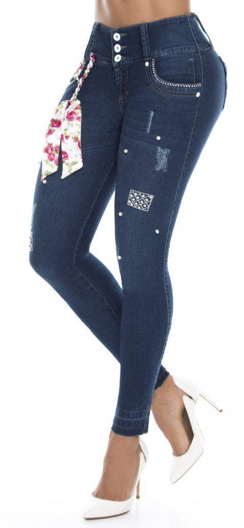0ee4ef442bc3 Jeans levanta cola 86535 Azul WOW