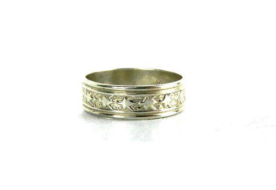 Handmade Silver Star Band Ring