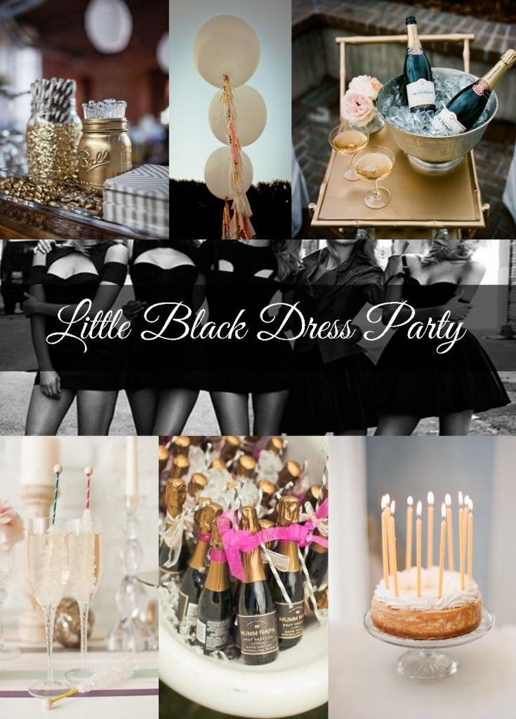 Little Black Dress Party Inspiration - Ok I know this really isn't a clothing post...but maybe one of these for my 40th??? oh, except just for me, because I don't really want to entertain or party on my 40th…I'll take the champers, though…and a dress.