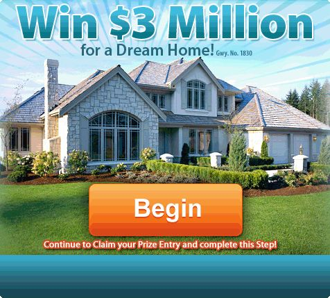 Publishers Clearing House PCH 3 Million Dream Home - induced info