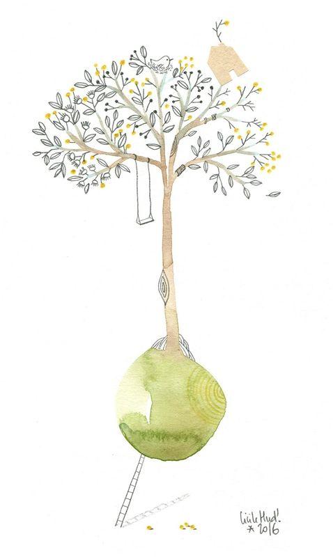 arbre et maison, Cécile Hudrisier