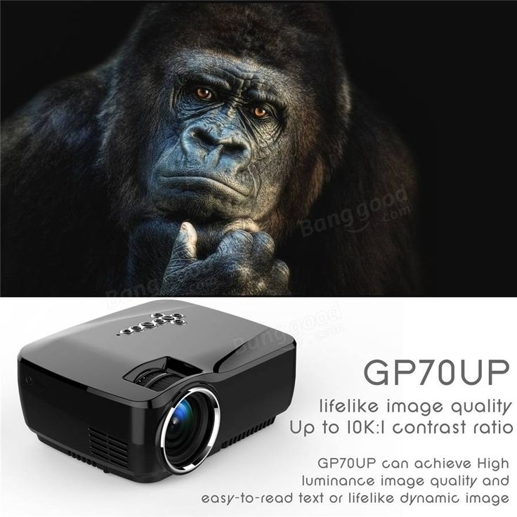 GP70UP Android Mini LED Projector with Google Play Updated by GP70 Portable Projector 1G RAM 8G ROM Bluetooth WiFi TV Beamer Sale - Banggood.com