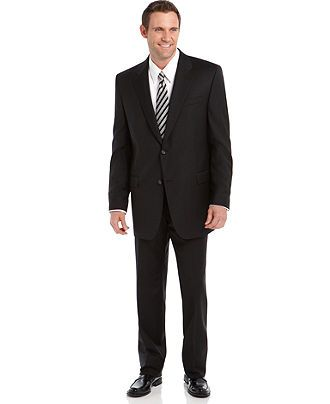 Lauren By Ralph Lauren Suit Separates, Black Solid Big and Tall - Suits & Suit Separates - Men - Macy's
