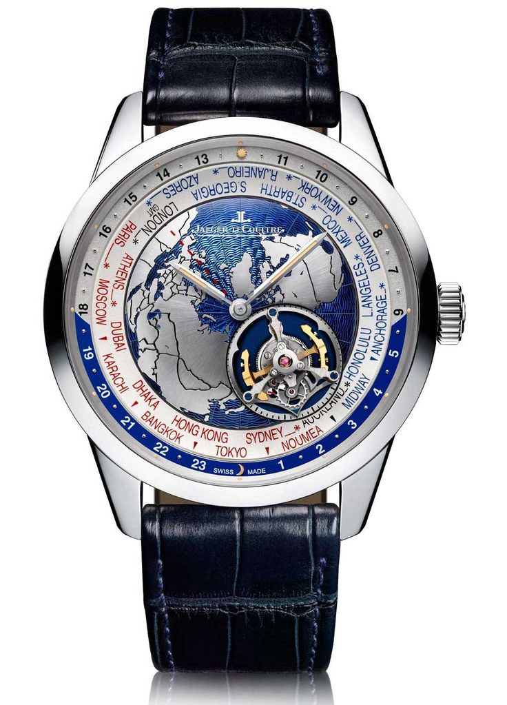 On the site now: Jaeger-LeCoultre Geophysic Tourbillon Universal Time Watch - by David Bredan - More on this tourbillon at aBlogtoWatch.com