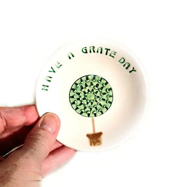 A personal favorite from my Etsy shop https://www.etsy.com/listing/234485176/garlic-plate-grater-plate-for-kitchen