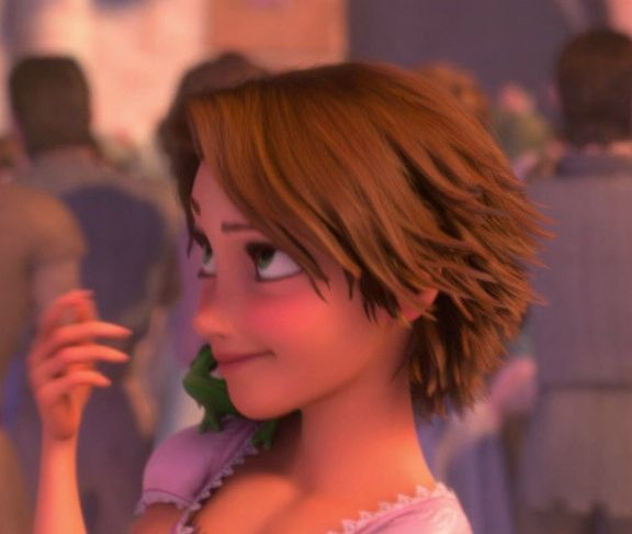 Tangled Rapunzel Short Hair   ... Does Rapunzel look better with long blonde hair or short brown hair