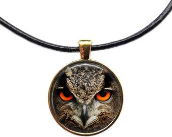 Beautiful Bronze Metal Owl Pendant Necklace with Long Bronze Chain.  *ready to ship within 1-2 business days* *packaged for gifting*  Message me with any questions or about custom orders!  ***THANK YOU***