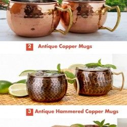 We provide best and highest quality of antique hammered copper mugs in New Jersey for sale. We are the best online store and you can buy pure copper m