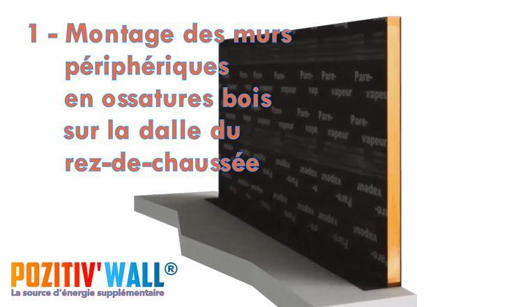 4 - Chaque dalle du POZITIV\u0027 WALL® est associée à l\u0027ossature bois - epaisseur dalle beton maison