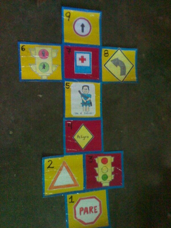 Una idea para trabajar con los niños las señales de transito