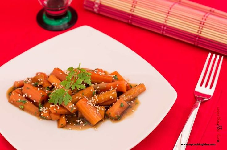#carote in #agrodolce #mycookingidea #ricettabloggeriunite http://www.mycookingidea.com/2013/10/carote-in-agrodolce/