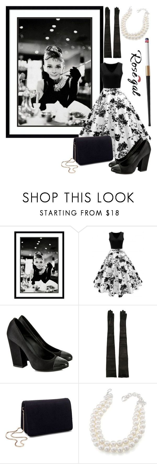 """Untitled #967"" by helenaki65 ❤ liked on Polyvore featuring Amanti Art, Chanel, Maison Margiela, Miss Selfridge and Carolee"