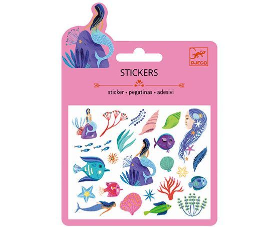 The perfect collection of mini stickers for anyone fascinated by Mermaids and aquatic detail, these brilliant, glittery designs will look perfect when used to decorate stationary or birthday invitations £0.95 | Birdkids | Djeco