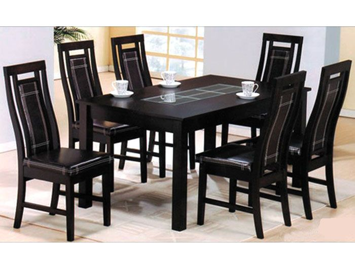 glass wood dining table with price. brisbon black wooden dining table with six chairs glass wood price i