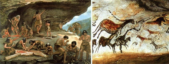 paleolithic life Prehistoric times what did the earth records of human life were not kept millions of years ago by looking at paleolithic art.