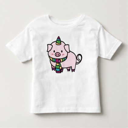#Childish t-shirt with Unicórnio Pig - #cool #kids #shirts #child #children #toddler #toddlers #kidsfashion