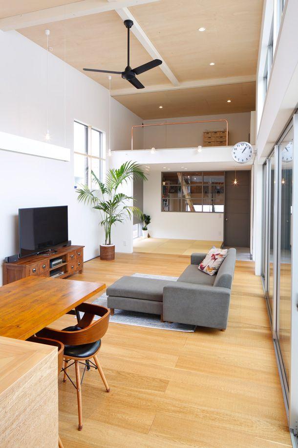 ひとつながりの家・間取り(福岡県糟屋郡) | 注文住宅なら建築設計事務所 フリーダムアーキテクツデザイン もっと見る