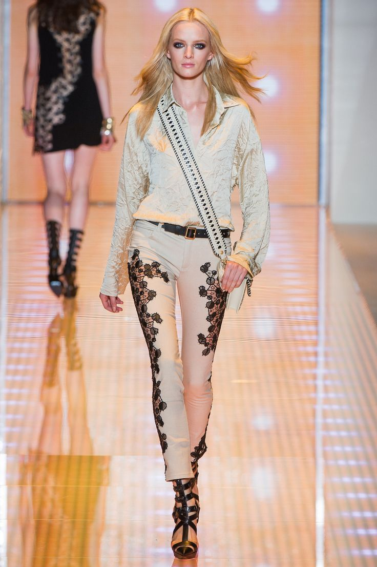 gold necklace Versace Spring 2013 Ready to Wear Collection Photos   Vogue