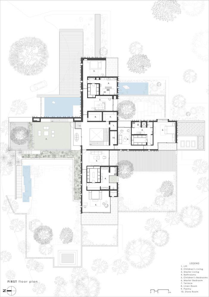 Gallery Of The House Of Secret Gardens Spasm Design 39 Architectural Floor Plans Architect Design Floor Plan Layout