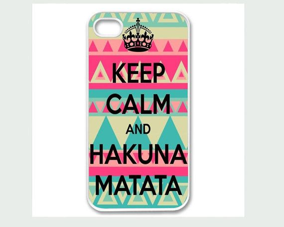 justice ipod cases for girls | Apple iPhone 4 4G 4S 5 Case Cover White Keep Calm and Hakuna Matata ...