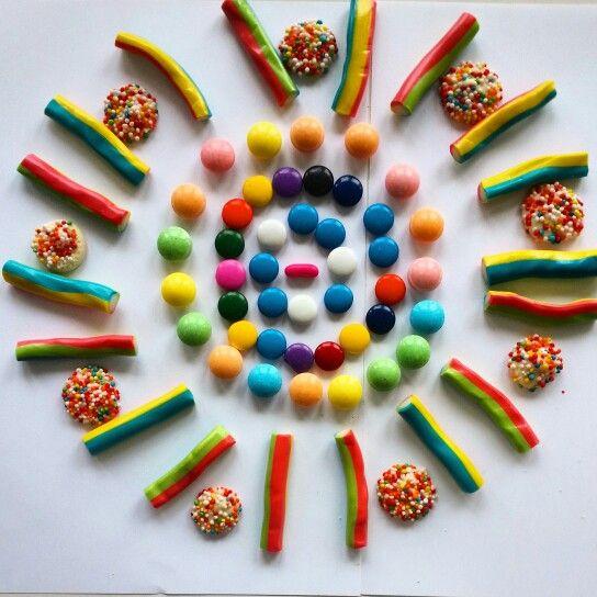 Having fun at work #candy #art
