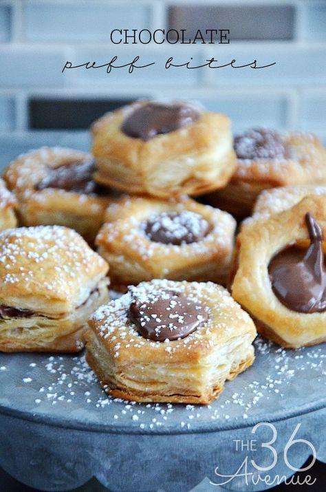 Chocolate Puff Bites - Three ingredient dessert that is ready in 15 minutes.
