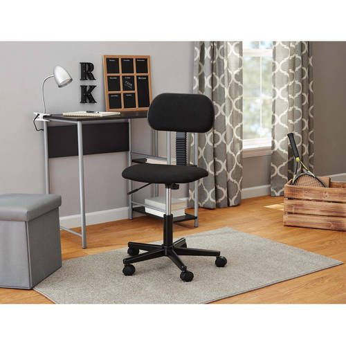 Fabric Task Chair Swivel Seat Rolling Home Office Desk Furniture Black New #1