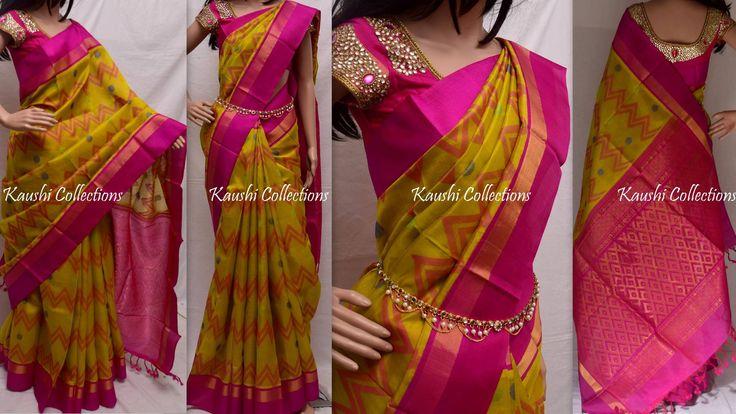 5000Rs AVAILABLE Kuppadam silk saree with rich pallu Blouse:Pink(pallu colour) Write us for order sparklingfashion3@gmail.com or whatsapp: 9949519207 21 April 2016