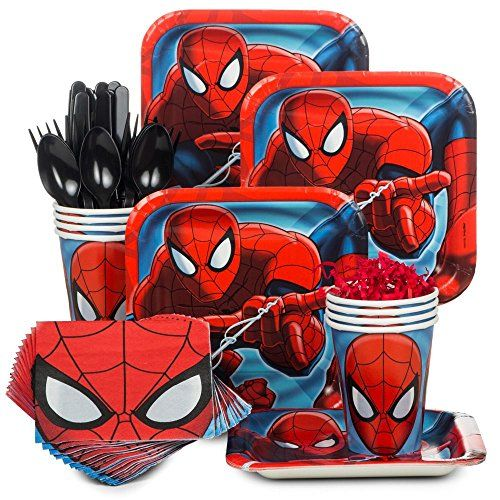 Spiderman Party Supply Standard Kit (Serves 8) Costume Su... https://www.amazon.com/dp/B00OTXVSIC/ref=cm_sw_r_pi_dp_x_T233yb684TWJN