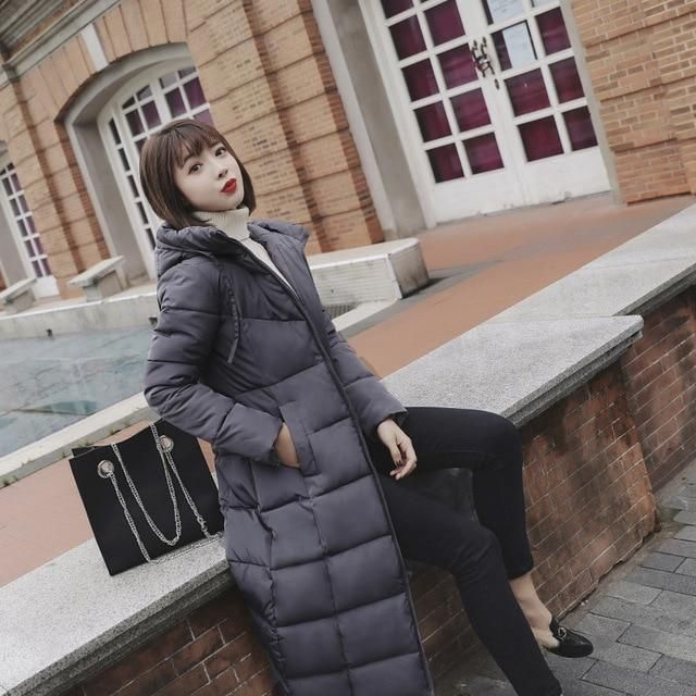 Winter Women Parkas Plus size Outerwear Cotton Coat Female 2018 wadded jaqueta feminina New Long Winter Jacket Women 6 82801 6 X 2