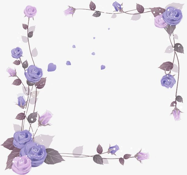Purple Fresh Flowers Border Texture Purple Fresh Flower Vine Png And Vector With Transparent Background For Free Download Blossoms Art Flower Drawing Floral Wall Art