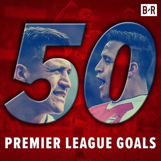El Ninoo  50 premier League goal  #alexis  #sanchez #gunners #COYG #WeAreTheArsenal