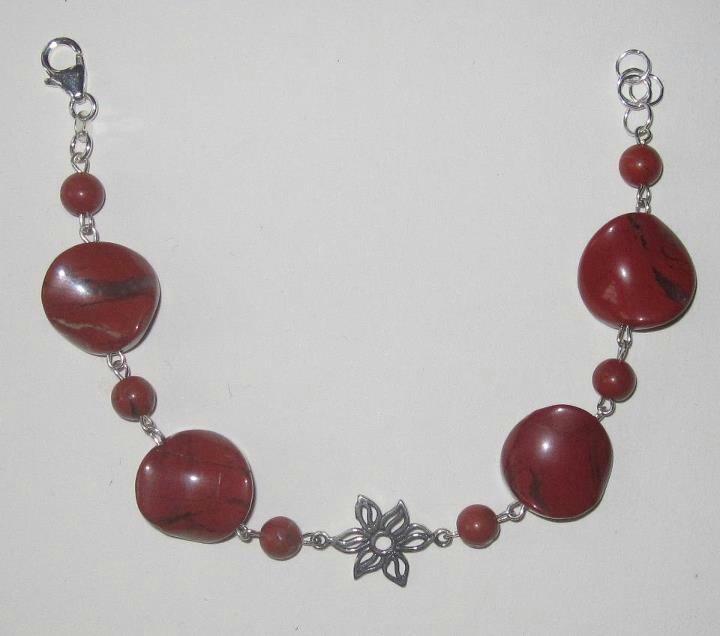Bracciale argento e diaspro rosso www.facebook.com/VioletArtBijoux