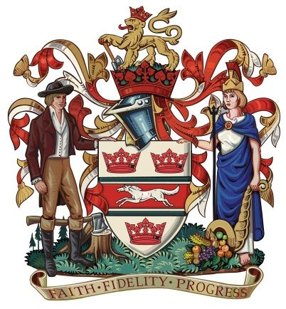 It's a shame coat of arms aren't used as much any more because #Guelph's is quite beautiful.
