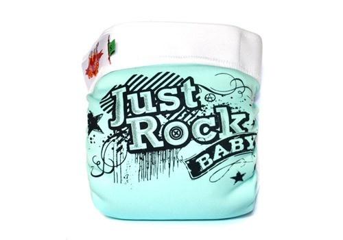 """Couche lavable Bébé Culotté """"Just Rock Baby""""  http://www.lilinappy.fr/couche-lavable-bebe-culotte-just-rock-baby.html"""