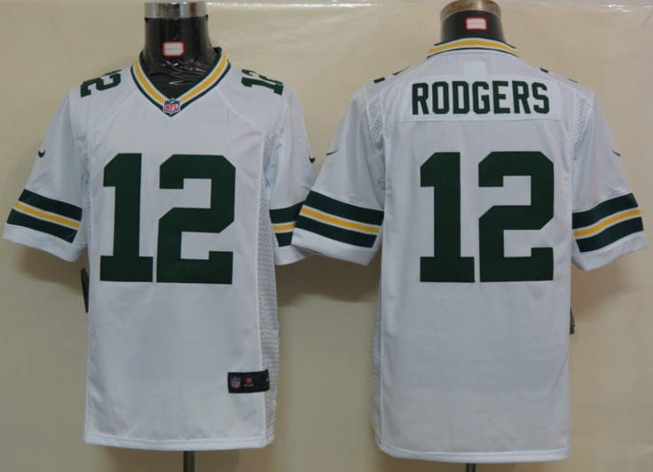 ... nfl nike game White Aaron Rodgers Packers Limited 12 Jersey ... dad888332