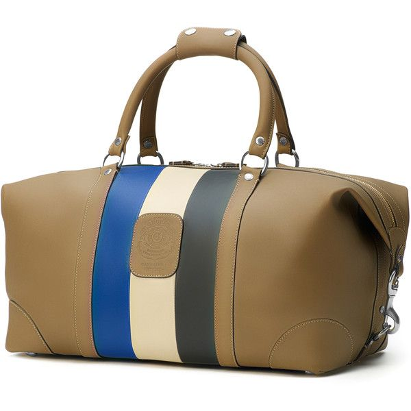 Ghurka Cavalier I Duffle Bag (5.500 BRL) ❤ liked on Polyvore featuring men's fashion, men's bags, brown and mens duffel bags