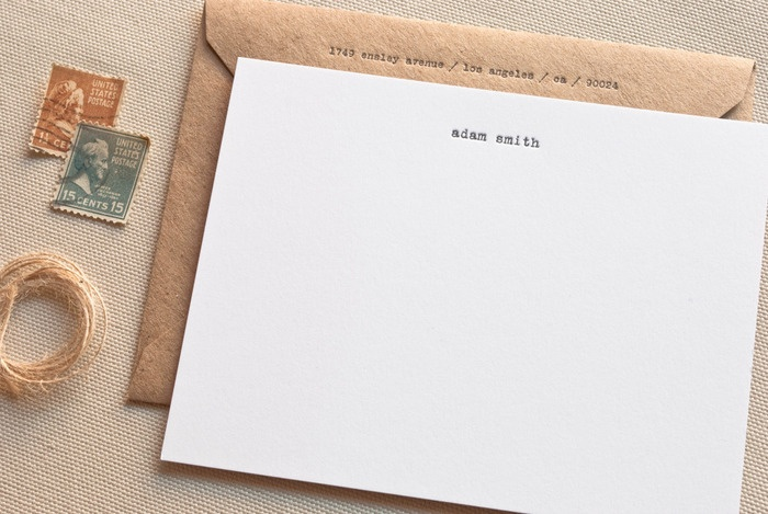 """real men write thank-you notes. This stationery says, """"i'm manly, but my momma taught me right."""""""