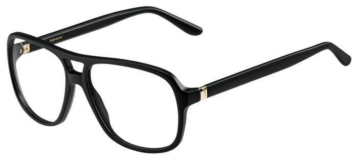 70ca338bd3f Lunettes de vue pour homme Yves Saint Laurent YSL-2347 de couleur noire.